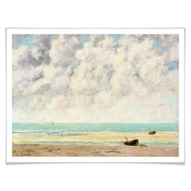 Poster Courbet - Die ruhige See