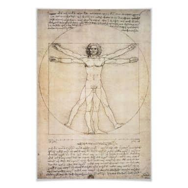 Poster da Vinci - Proportionszeichnung