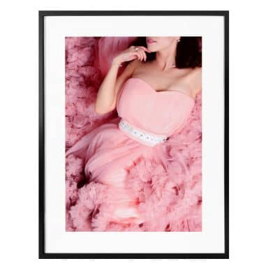Poster Das rosa Kleid