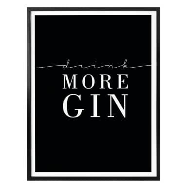Affiche Drink more Gin