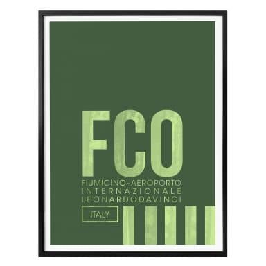Poster 08Left - FCO Flughafen Rom