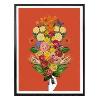 Poster Feldmann - Rouge botanique