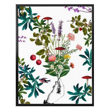 Poster Feldmann - Blanc botanique
