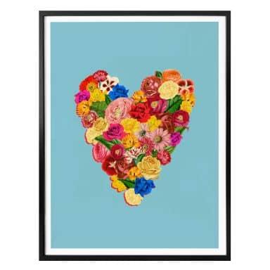 Poster Feldmann - Heart Floral