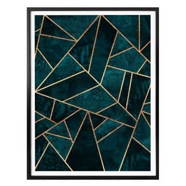 Poster Fredriksson - Blue Green Gemstones