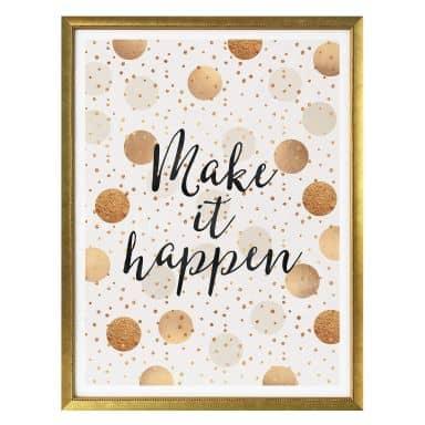 Plakat - Frederiksson - Make it happen - Dots