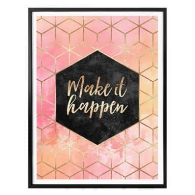 Plakat - Frederiksson - Make it happen - Hexagon