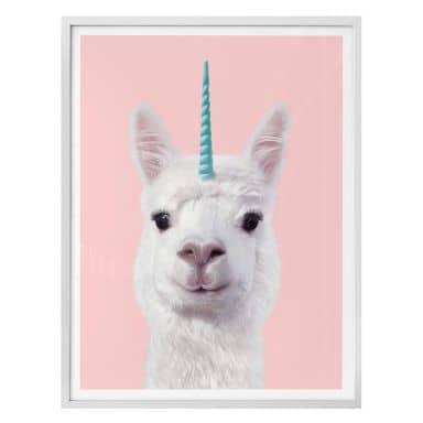 Poster Fuentes - Alpaca Unicorn