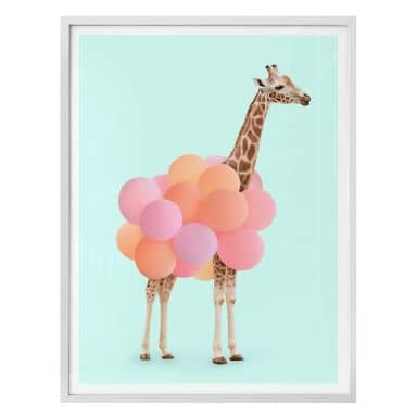 Poster Fuentes - Giraffe & Balloons