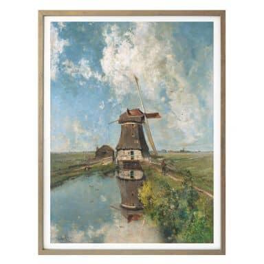 Poster Gabriël - Windmühle in einem Polder