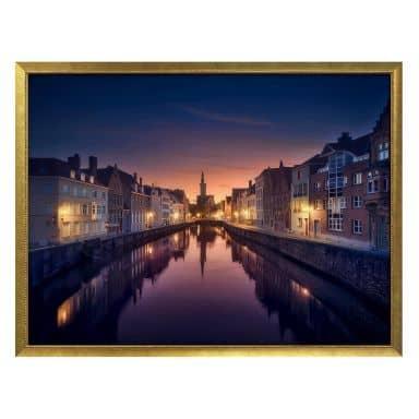 Poster García - Sunset in Brugge