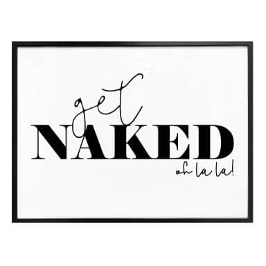 Poster - Get naked