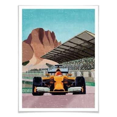 Poster Goed Blauw - Race Car