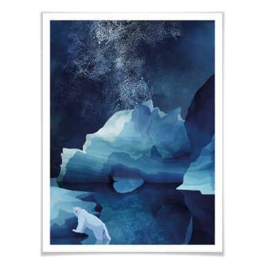 Poster Goed Blauw - Der Polarbär