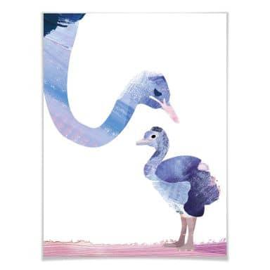 Poster Goed Blauw - Federliebe