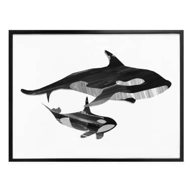 Poster Goed Blauw - Whale