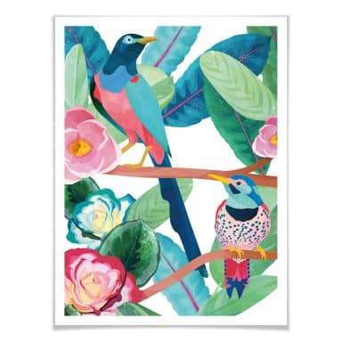 Poster Goed Blauw - Birds in Spring