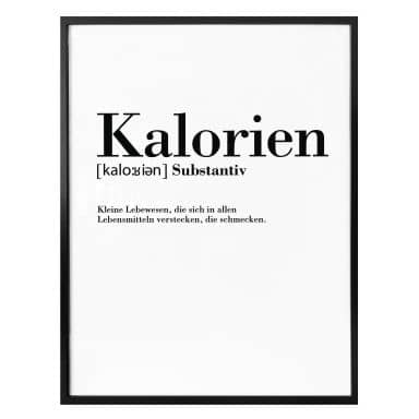 Poster Grammatik - Kalorien