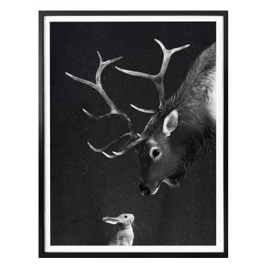 Poster Graves - Deer and Rabbit