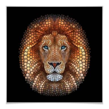 Poster Ben Heine - Circlism: Leeuw