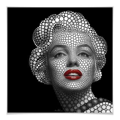 Poster Ben Heine Circlism - Marilyn Monroe