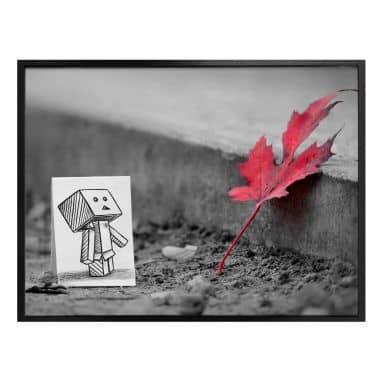 Poster Heine - Pencil vs. Camera - Red Leaf
