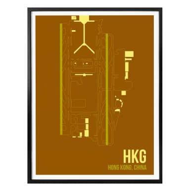 Poster 08Left - HKG Grundriss Hong Kong