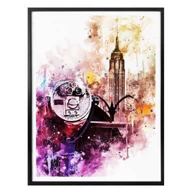 Poster Hugonnard - Watercolour New York View