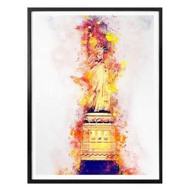Poster Hugonnard - Watercolour: Statue of Liberty