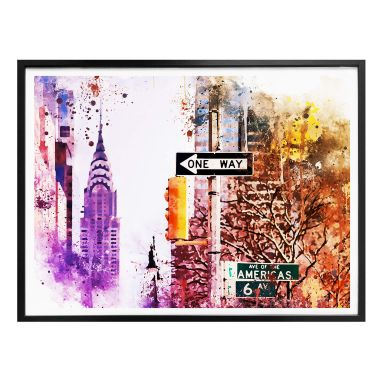 Poster Hugonnard - Watercolour: The Empire State Building