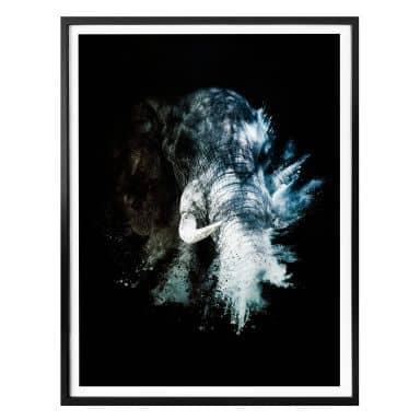Poster Hugonnard – Wild Explosion: Elefant