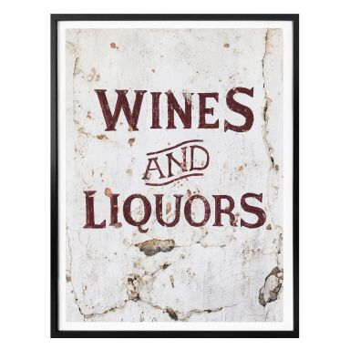 Poster Hugonnard - Wines and Liquors