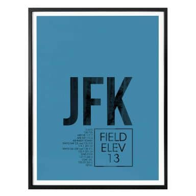 Poster 08Left - JFK Flughafen New York