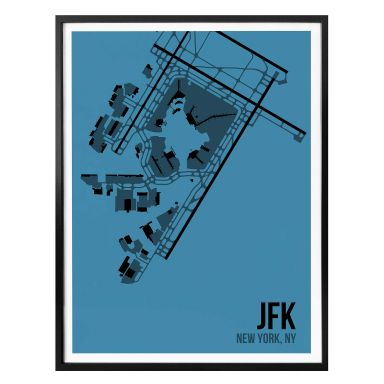 Poster 08Left - JFK Grundriss New York