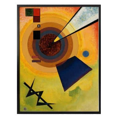 Poster Kandinsky - Green and Red