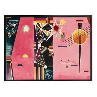 Poster Kandinsky - Rosa Rot