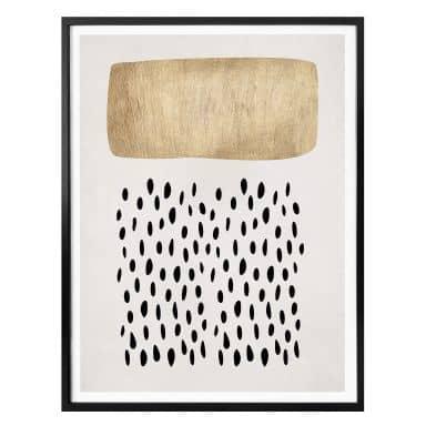 Poster Kubistika - Golden Clouds