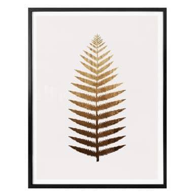 Poster Kubistika - Fougère dorée