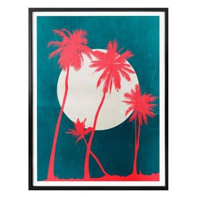 Poster Kubistika - Caribbean Night