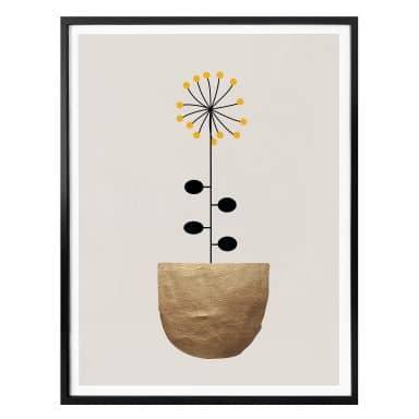 Poster Kubistika - kleine Sonnenblume