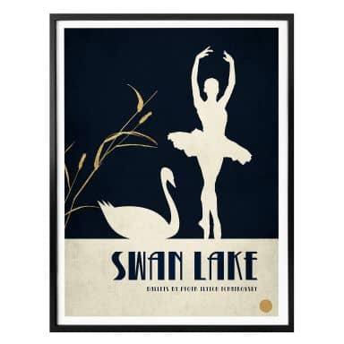 Affiche Kubistika - Le lac des cygnes - Swan Lake