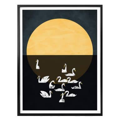 Poster Kubistika - Swan Lake