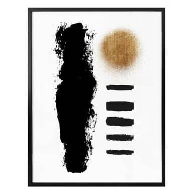 Poster Kubistika - Black Stripes