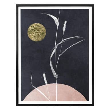 Poster Kubistika - Full moon