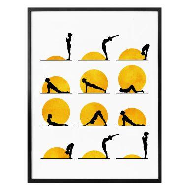 Poster Kubistika - Yoga Der Sonnengruß
