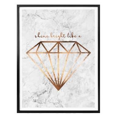 Affiche effet cuivré - Shine bight like a diamond