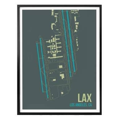 Poster 08Left - LAX plan de l'aéroport de  Los Angeles