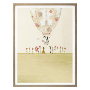 Poster Leffler - Hochzeitsballon