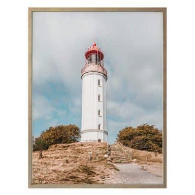 Poster Leuchtturm auf Hiddensee