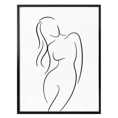 Poster Line Art - Female Silhouette